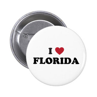 I Love Florida 2 Inch Round Button