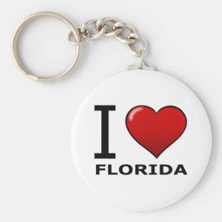 I LOVE FLORIDA KEYCHAIN