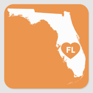 I Love Florida State Stickers