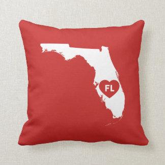 I Love Florida State Throw Pillow