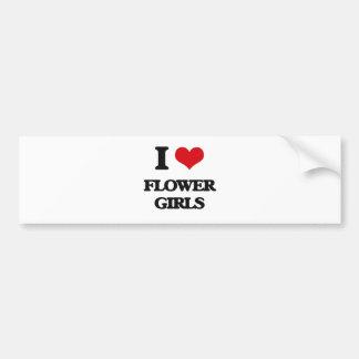 I love Flower Girls Car Bumper Sticker