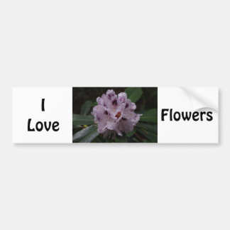 I Love Flowers Bumper Sticker