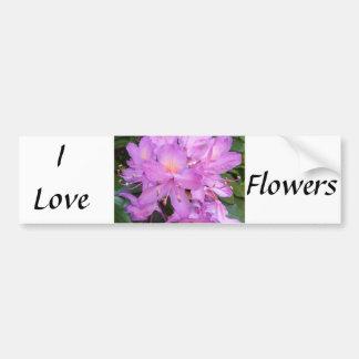 I Love Flowers Bumper Sticker