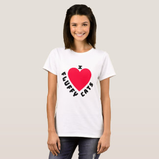 I Love Fluffy Cats (2) T-Shirt