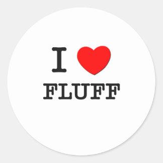 I Love Fluffy Classic Round Sticker