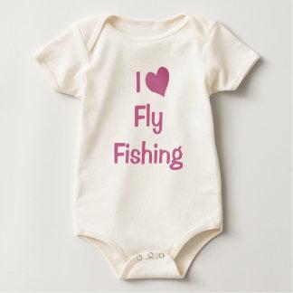 I Love Fly Fishing Baby Bodysuit
