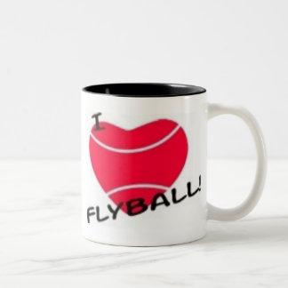 I love flyball Two-Tone coffee mug