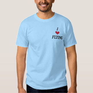 'I LOVE FLYING' EMBROIDERED T-Shirt