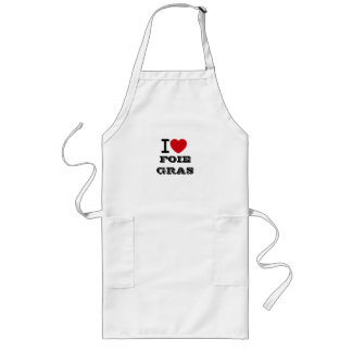 I Love Foie Gras Apron (full size) - Customized