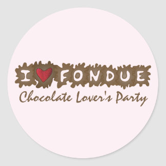 I Love Fondue Stickers