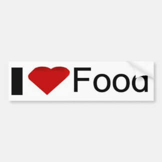 I love food bumper sticker