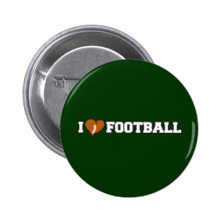 I Love Football 2 Inch Round Button