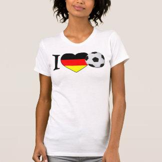 «I Love football» Allemagne Girls Shirt T-shirt