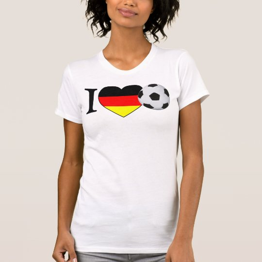 """I Love football"" Germany Girls shirt"