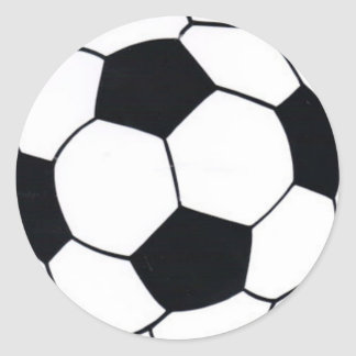 I LOVE FOOTBALL (SOCCER) CLASSIC ROUND STICKER