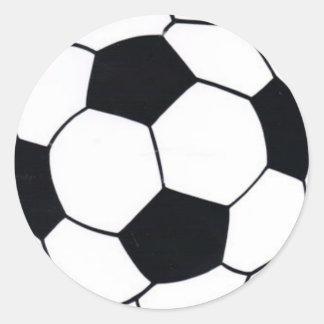 I LOVE FOOTBALL (SOCCER) ROUND STICKER