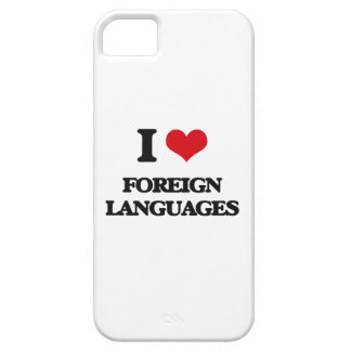 I Love Foreign Languages iPhone 5 Covers