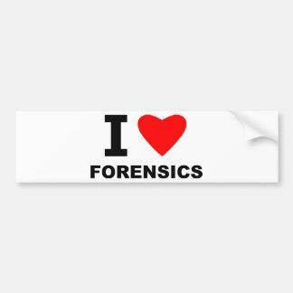 I Love Forensics Bumper Sticker