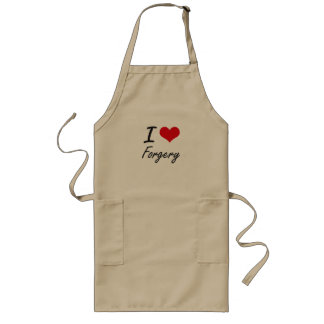 I love Forgery Long Apron