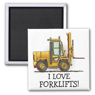 I love Forklift Truck Magnet