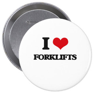 i LOVE fORKLIFTS Pinback Buttons