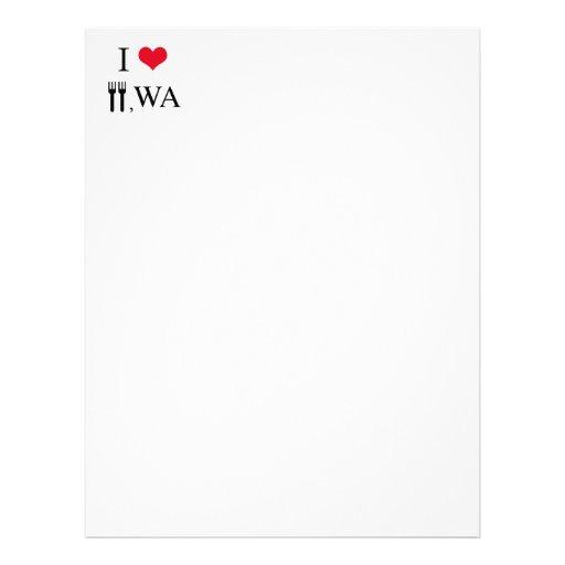 I Love Forks, WA Personalized Letterhead