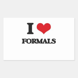 i LOVE fORMALS Rectangle Sticker