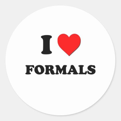 I Love Formals Sticker
