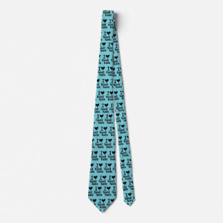 """I Love Fossil Fuels"" Premium Seashore Blue Tie"