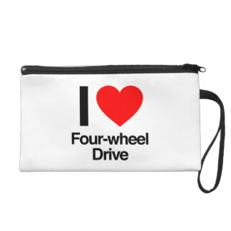 i love four-wheel drive wristlet clutch