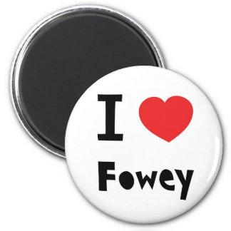 I love Fowey 2 Inch Round Magnet