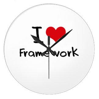 I Love Framework Wall Clocks