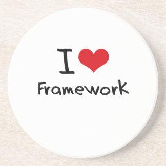 I Love Framework Coasters