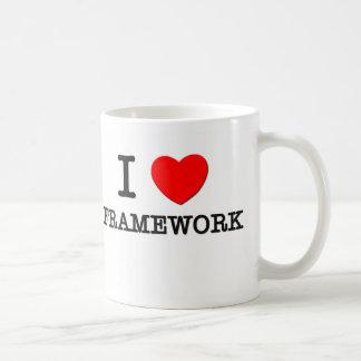 I Love Framework Coffee Mugs