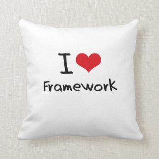 I Love Framework Throw Pillow