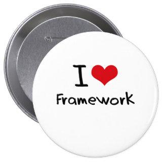 I Love Framework Pinback Button