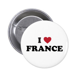 I Love France 2 Inch Round Button