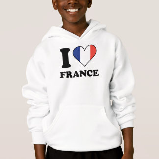 I Love France French Flag Heart