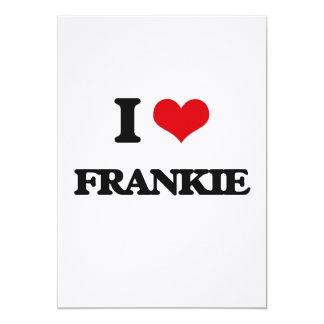 "I Love Frankie 5"" X 7"" Invitation Card"