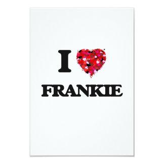 "I Love Frankie 3.5"" X 5"" Invitation Card"