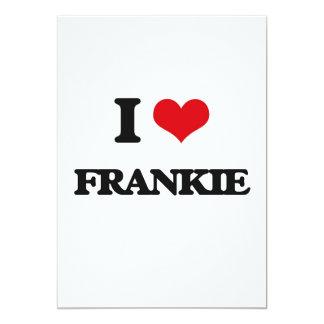 I Love Frankie 5x7 Paper Invitation Card