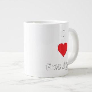 I love Free Jinger Large Coffee Mug