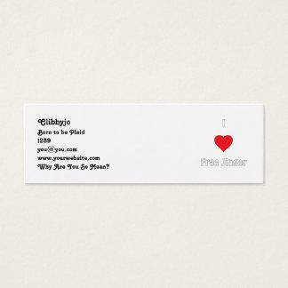 I love Free Jinger Mini Business Card