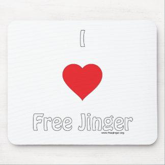 I love Free Jinger Mouse Pad