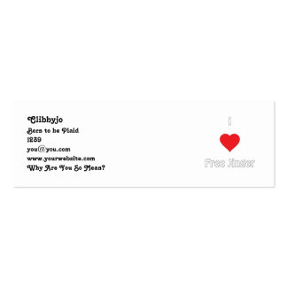 I love Free Jinger Pack Of Skinny Business Cards