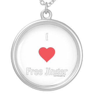 I love Free Jinger Personalized Necklace