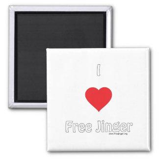 I love Free Jinger Refrigerator Magnets