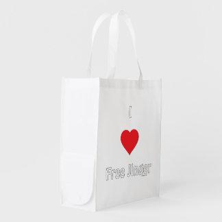 I Love Free Jinger Reusable Grocery Bag