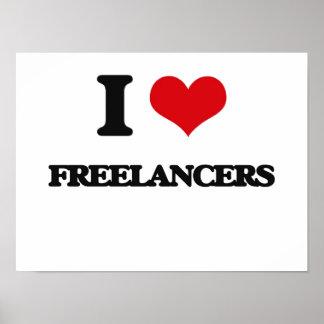 i LOVE fREELANCERS Print