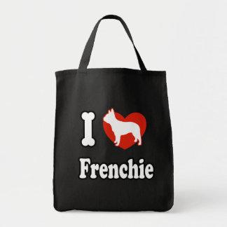 I love French Bulldog Tote Bag